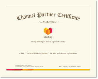 channel partner certificate